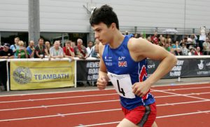 Modern Pentathlon European Championships - Bath - 22nd August 2015. Joseph Choong in action from the combined (run and shoot) phase of the Mens Senior European Championships Olympic Qualification held at the Sports Training village at the University of Bath