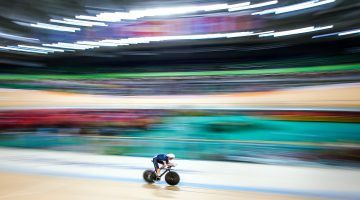 Picture by Alex Whitehead/SWpix.com - 09/09/2016 - 2016 Rio Paralympic Games - Track Cycling - Olympic Velodrome, Rio de Janeiro, Brazil - Great Britain's Louis Rolfe in action during the Men's C2 3000m Individual Pursuit qualifying.