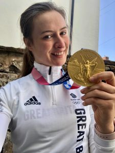 Charlotte Worthington with Gold medal
